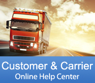 Customer and Carrier Online Help Center