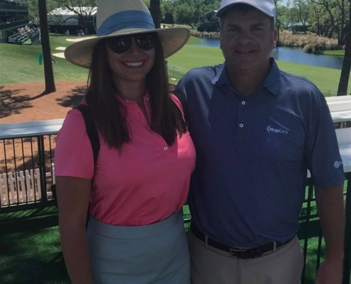 Couple at PGA Wells Fargo 2017
