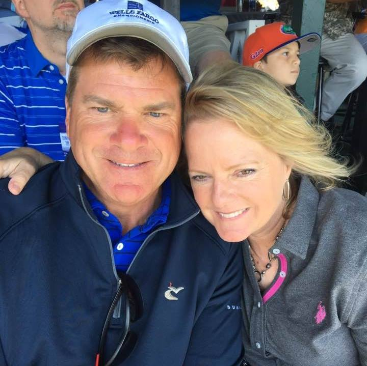 Our CEO Ryan Legg and his wife Denise in the crowd at the PGA Tour in Wilmington.