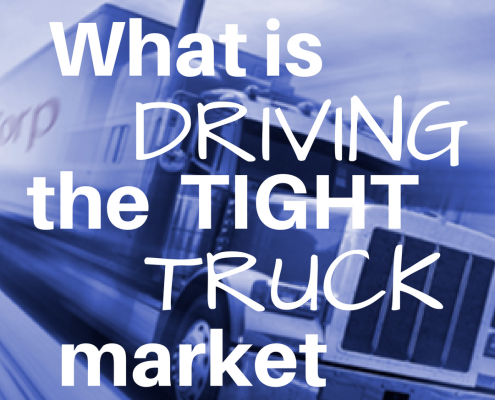 What is driving the tight truck market