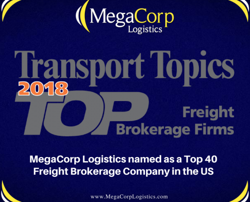 Transport Topics 2018 Megacorp named as Top 40 Freight Brokerage Company in the US