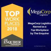 MegaCorp Logistics Named as a Top Workplace by the Enquirer