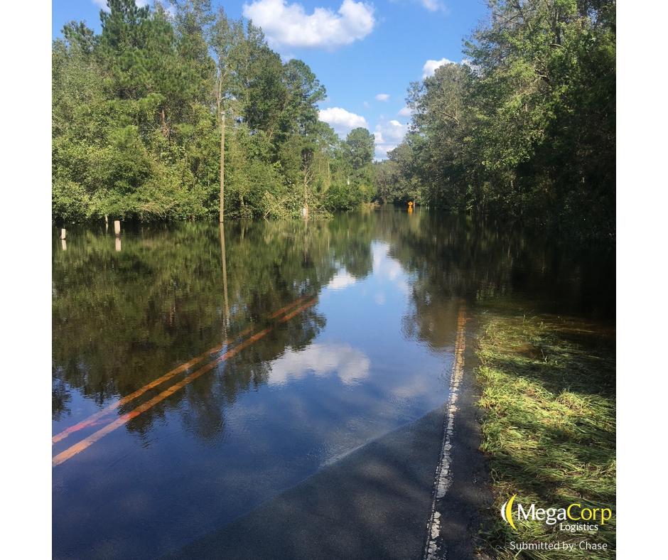 Roads completely underwater.