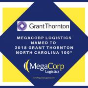 MegaCorp Logistics named to 2018 Grant Thornton North Carolina 100.