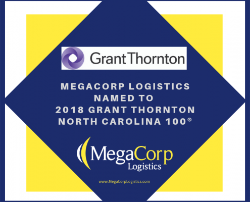 MegaCorp Logistics named to 2018 Grant Thornton North Carolina 100.