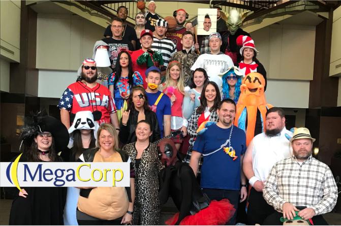 Cincinnati employees dressed up for Halloween