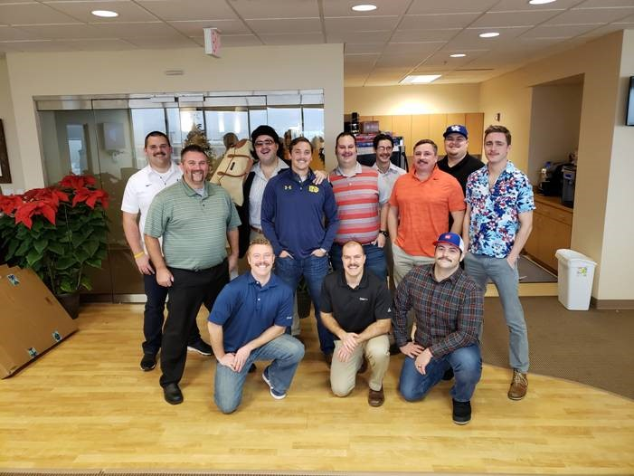 After MOvember: male employees with mustaches
