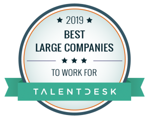 2019 Best Large Companies to Work For from Talent Desk