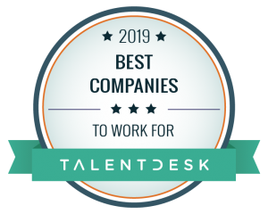 2019 Best Companies to work for from Talent Desk