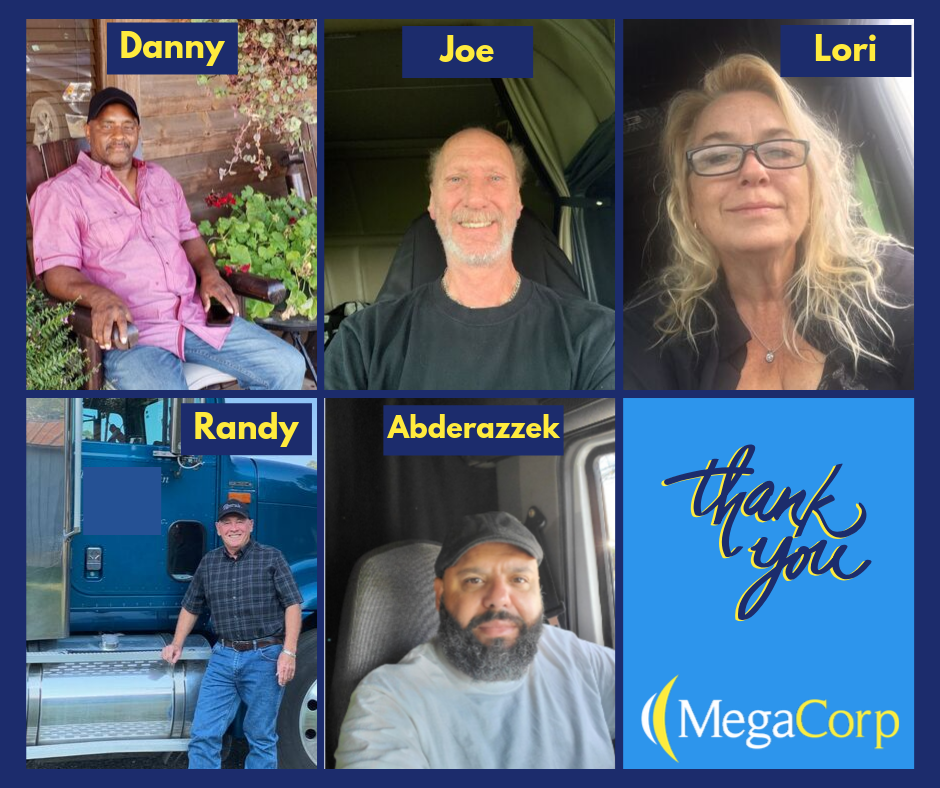 Thank You from MegaCorp Employees: Danny, Joe, Lori, Randy, and Abderazzek